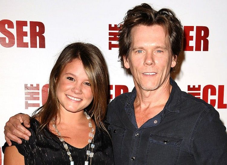 KEVIN BACON AND SOSIE With the same brown hair and similar ...