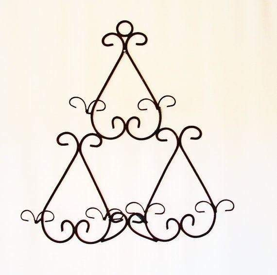 Rack - Christmas Present - large wall plate holder - Holds 3 Plates on  sc 1 st  Pinterest & plate hangers for large plates | ... Rack - Christmas Present ...