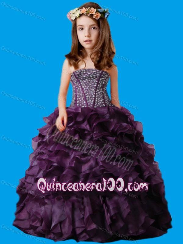 ruffled layered ball gowns cheap