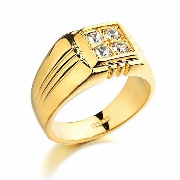 Brand TracysWing Rings for men Genuine Austria Crystal Copper Gold Color Fashionintothea