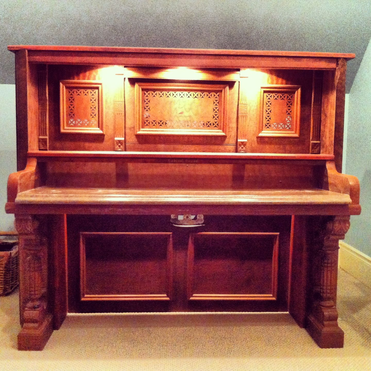 Old piano transformed into a desk! - Might Have The Most Creative Parents Out There! They Transformed