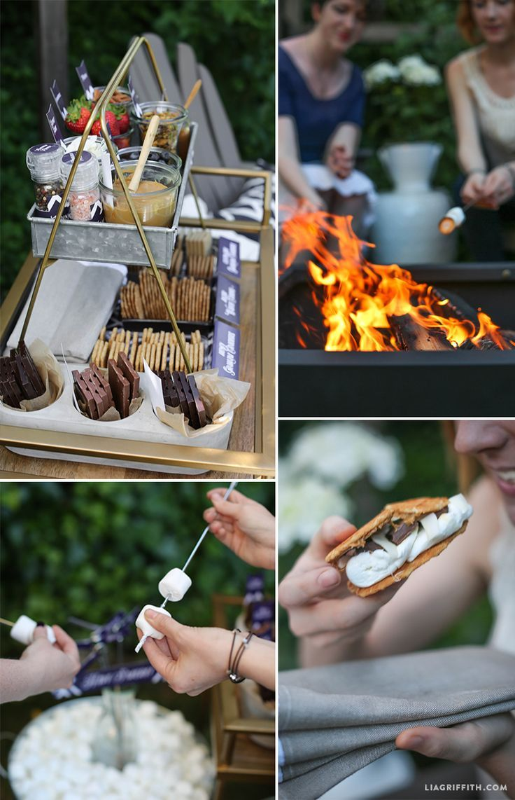 Swanky S'mores for Outdoor Entertaining Swanky S'mores for Outdoor Entertaining