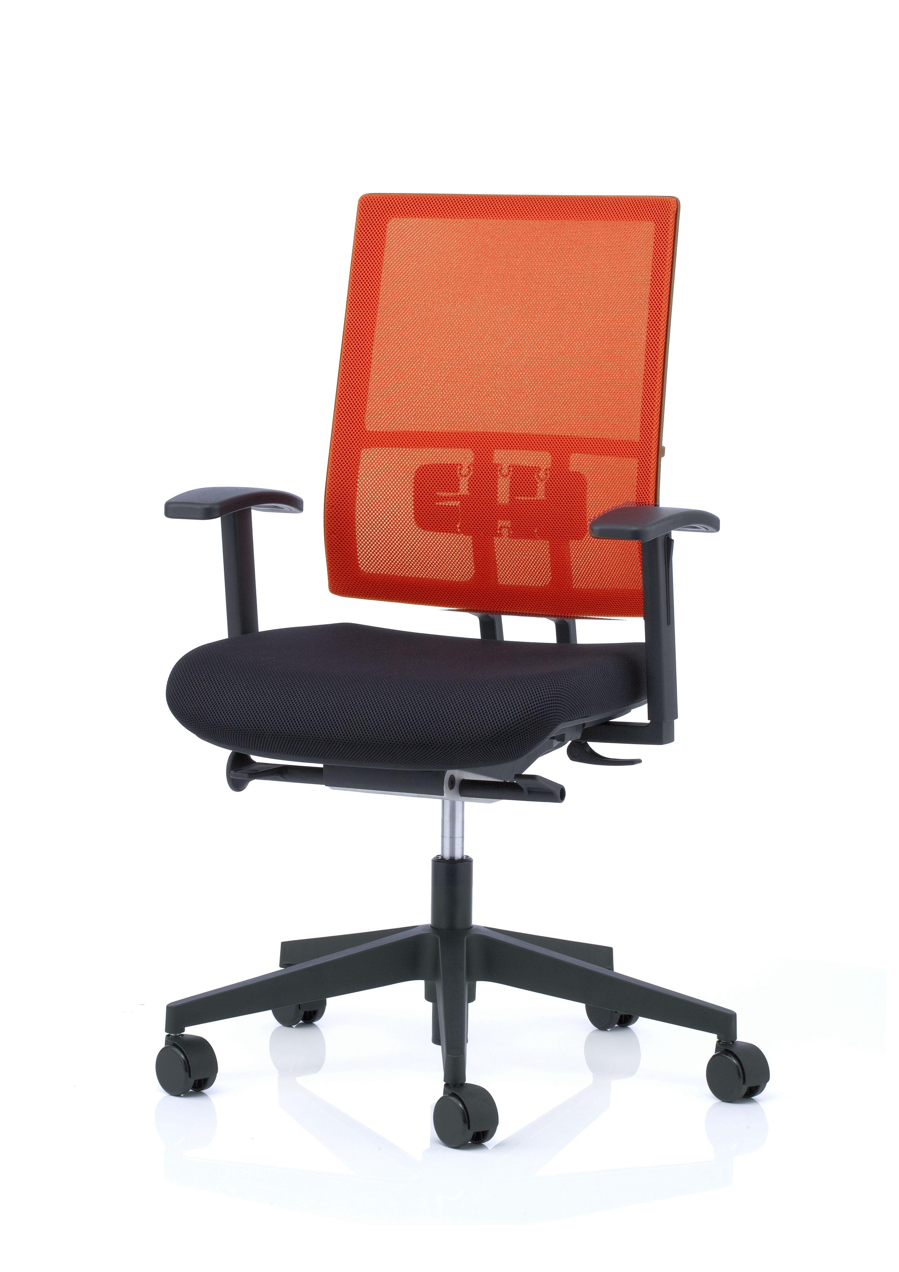 orange mesh back anteo task chair koehl kohl seating uk anteo