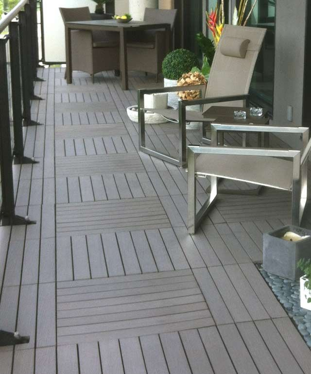 Anti Skid Dock Decking White Composite