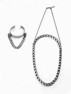 """margiela """"sideways"""" jewelry"""