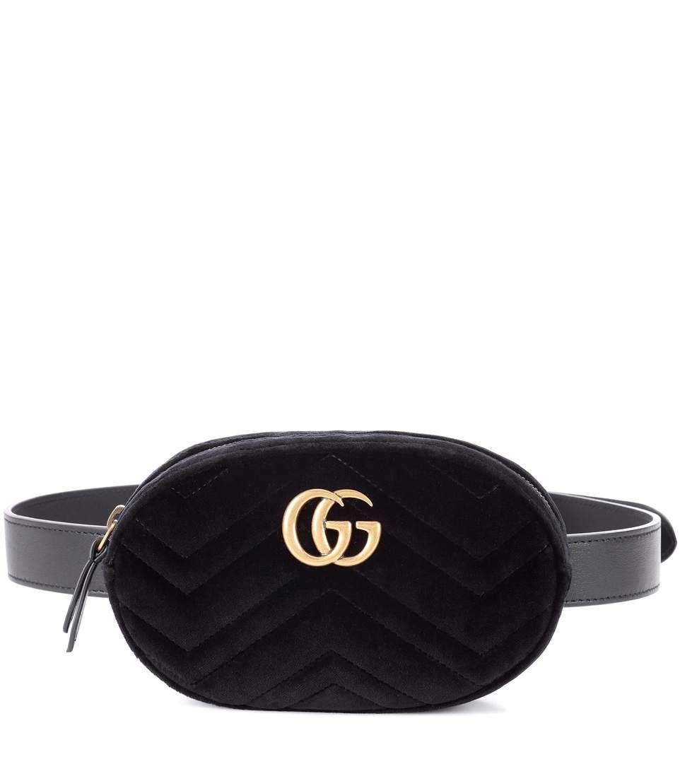 1168a4bb9568c7 GUCCI Marmont Velvet Belt Bag. #gucci #bags #belt bags #velvet #suede  #lining #