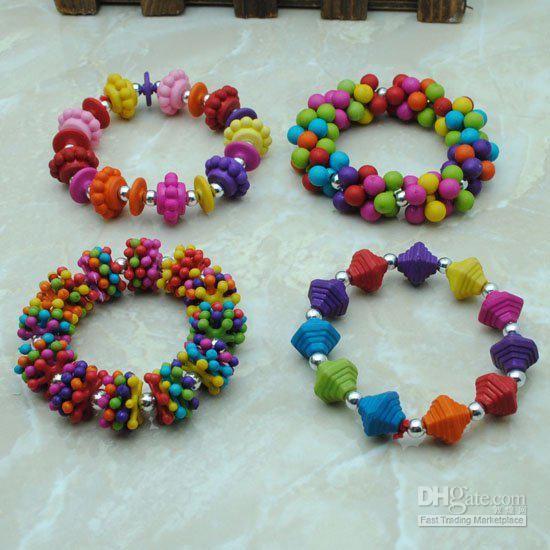 Wholesale Charm Bracelets - Buy Kids Handmade Jewelry !Fashion Baby Jewellery Cute Children Warp Charm Bracelets Mix Color Free Ship, $1.4 |...