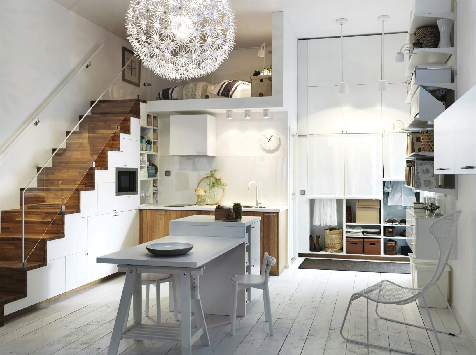 30 Qm Wohnung Einrichten Haus Design Ideen Inside Wohndesign Ideen Wohnungeinrichten Haus Stairs In Kitchen Small Space Kitchen Scandinavian Kitchen Design
