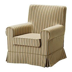 ikea jennylund chair covers uk office gel cushion ektorp cover linghem light brown stripe