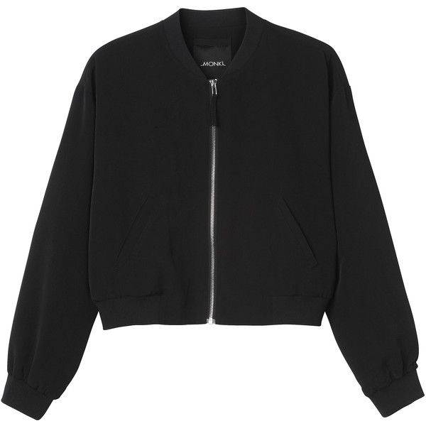 9aa44a87283a3 Monki Nicole bomber jacket (145 ILS) ❤ liked on Polyvore featuring  outerwear
