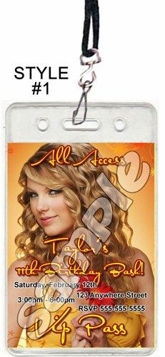 Taylor swift set of 12 vip party invitation passes style 1 taylor swift set of 12 vip party invitation passes style 1 filmwisefo