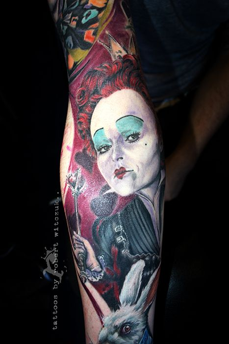 Red Queen Tattoos by Robert Witczuk