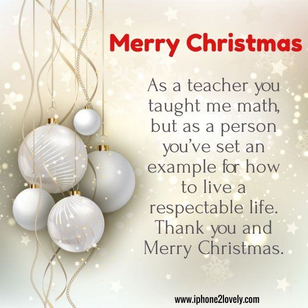 Merry Christmas Greetings For Teachers  Merry Christmas Quotes