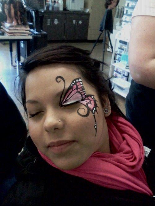 Mariposita Lindo diseño make up Pinterest Maquillaje, Caras