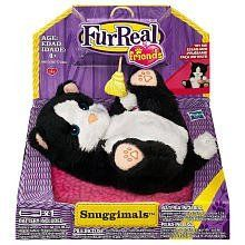 Furreal Friends Snuggimals Black And White Kitten By Hasbro