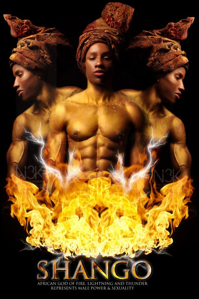 Orishas Por Noire 3000 Aka James C Lewis Shango God And Goddess