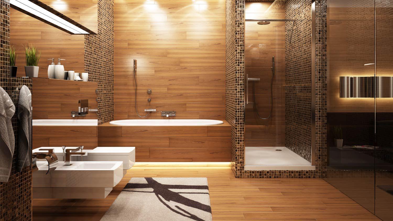 Hout In Badkamer : Sfeervol hout in de badkamer badkamer interieur