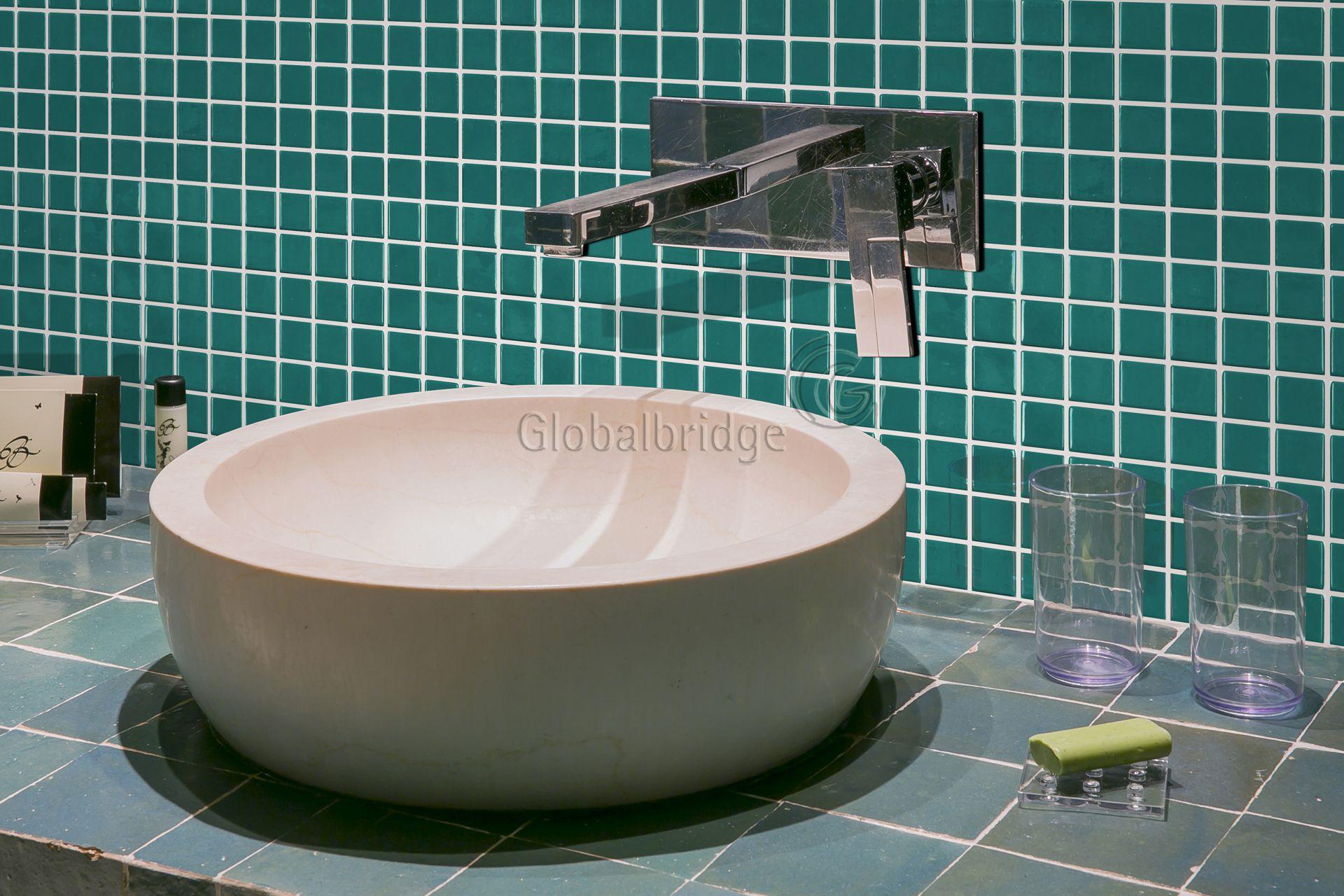 Recycle glass tiles bathroom wall tiles | Ceramic mosaic tiles ...