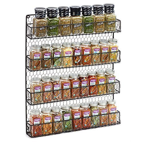 Amazon.com: SpiceStor Organizer Rack 20 Cabinet Door Spice Clips: Spice Rack  In Cabinet: Kitchen U0026 Dining