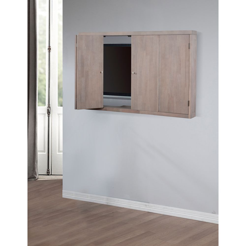 Superior Studio Dove Finish Wall Mount TV Cabinet | Overstock.com Shopping   The  Best Deals