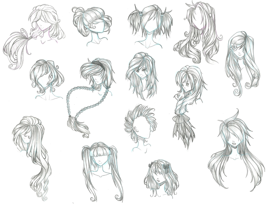 Anime Hair By Aii Cute On Deviantart Anime Character Drawing Anime Drawings Anime Hair