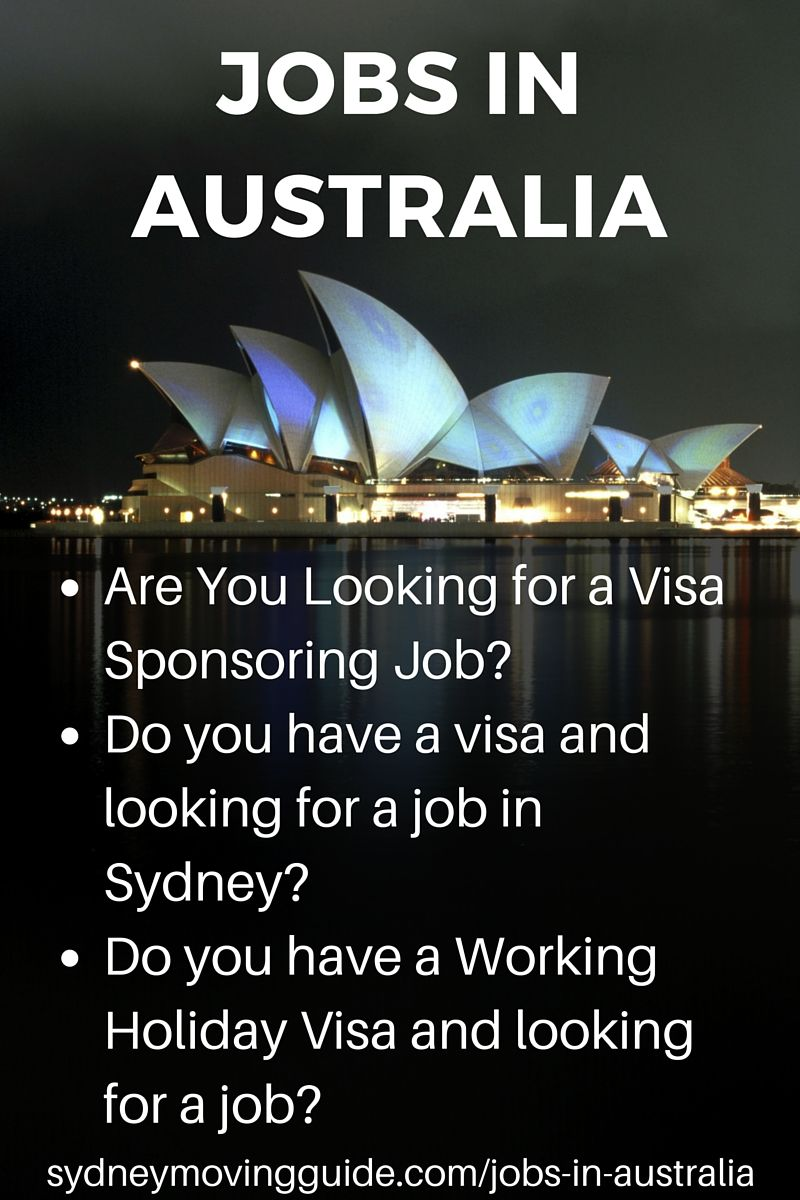 Finding A Job In Australia Sydney Moving Guide Moving To Australia Moving Overseas Australia