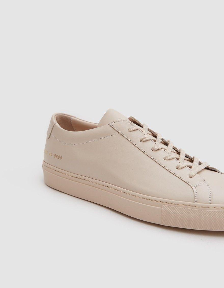 7b57b3f092589 Achilles Low Sneaker in Nude. Achilles Low Sneaker in Nude Common Projects