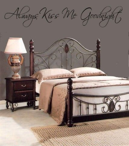 Always Kiss Me Goodnight Wall Art Decal by Coins4Sale on Etsy, $9.99