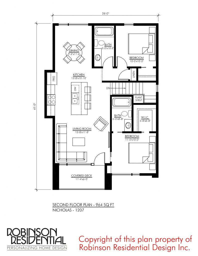 Tandem Garage House Plans Contemporary Nicholas 1207 In 2019 Retirement And Vacation Homes