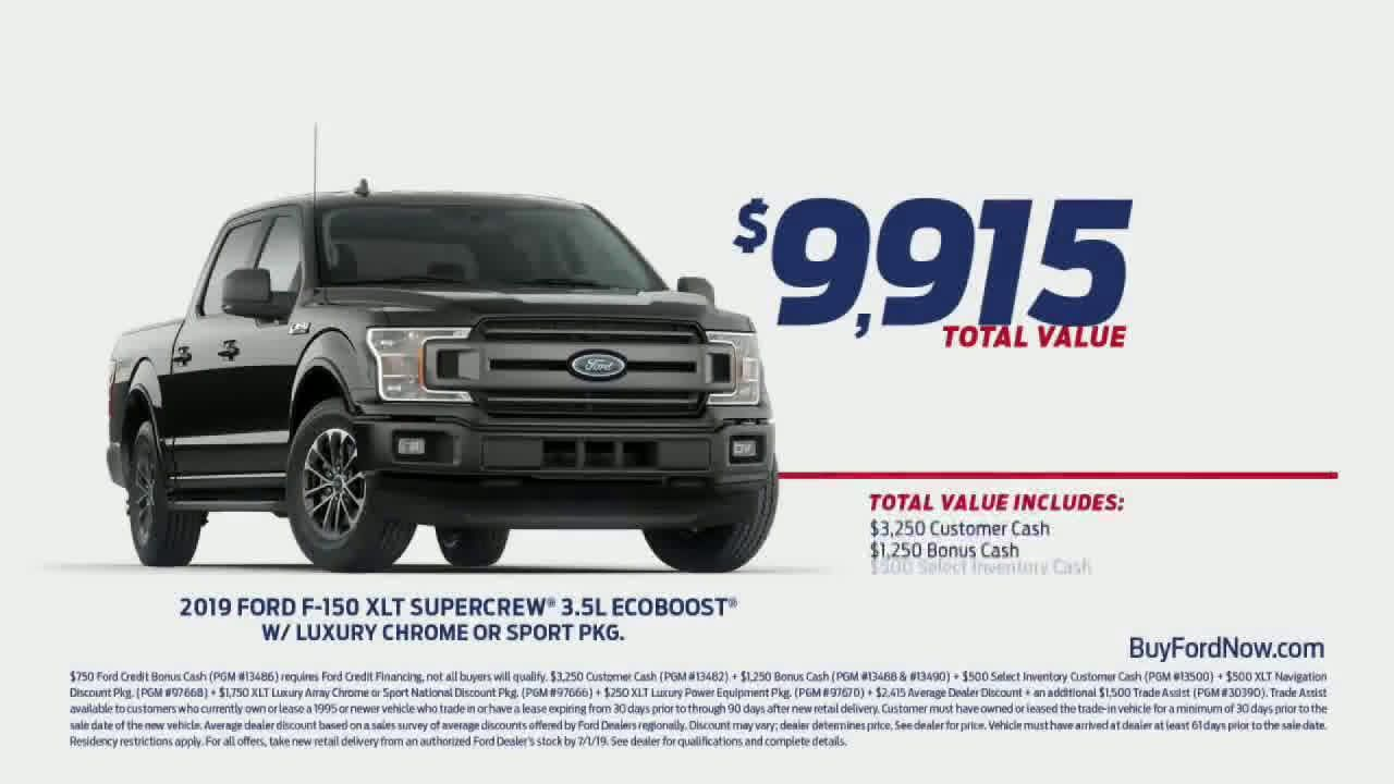 Ford Fourth Of July Sales Event Bigger And Better Ad Commercial On Tv 2019 Fourth Of July Sales Sale Event