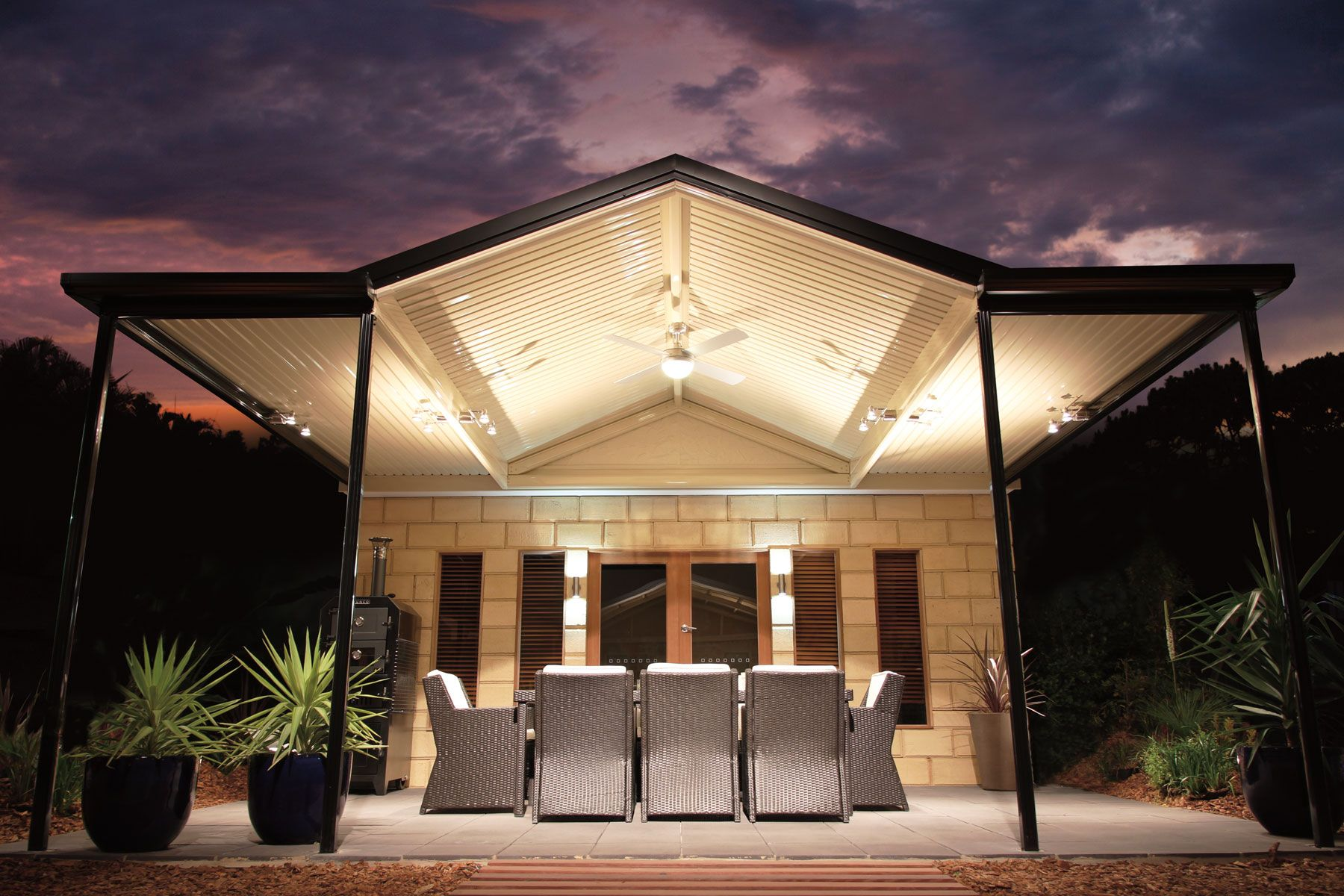 Outback Gable Gallery Modern gazebo, Patio, Barn house