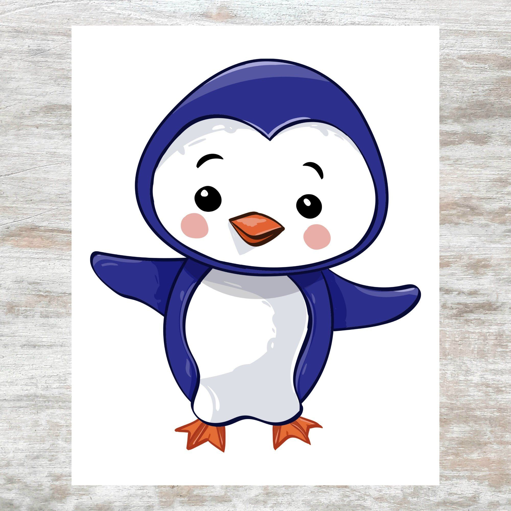 Cute Penguin Kids Room Printable Penguins Printable Nursery