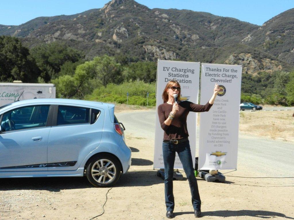 Alexandra Paul Baywatch plug in America electric car