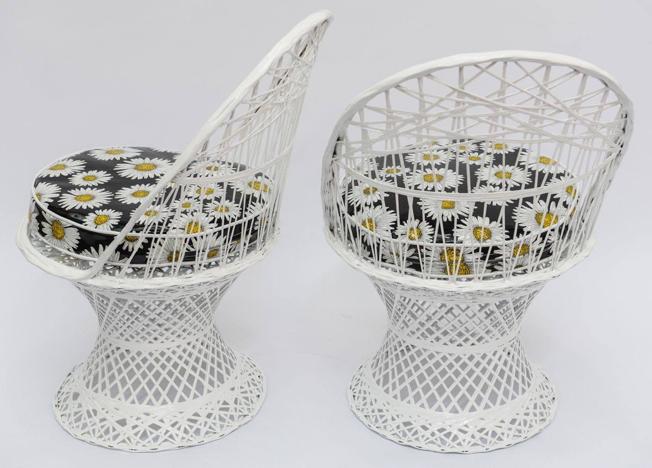 Mid Century Modern Rus Woodard Spun Fibergl Patio Furniture