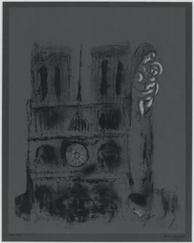 Notre-Dame in gray - Marc Chagall