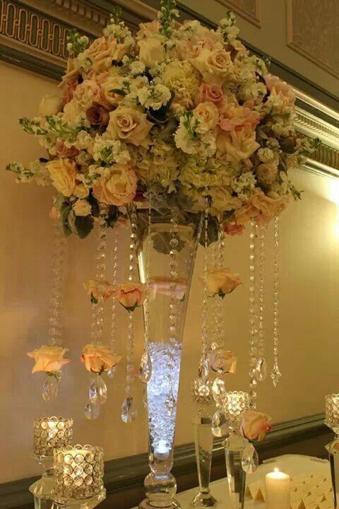 Elegant Crystal Centerpieces | Elegant, crystal centerpiece