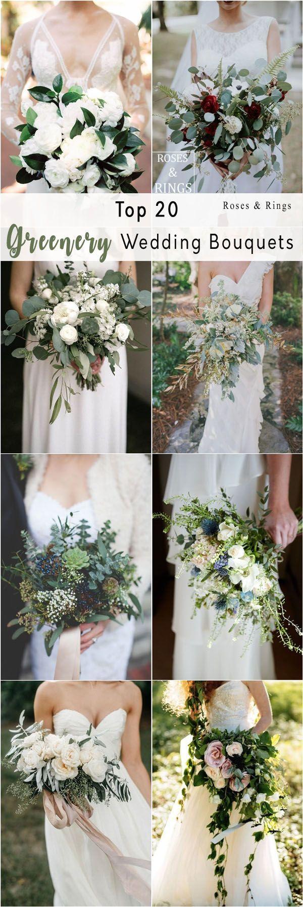 20 Best Greenery Wedding Bouquets #fantasticweddingbouquets
