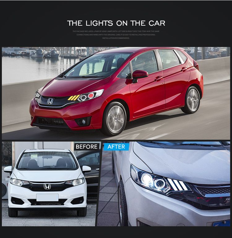 Vland Car Front Lights 2014 Up Head Lamp Fit Headlights For Honda Jazz View For Fit Jazz Vland Product Details From Zhejiang Yuanzheng Auto Motorcycle Acces Honda Fit Jazz Car Front Honda