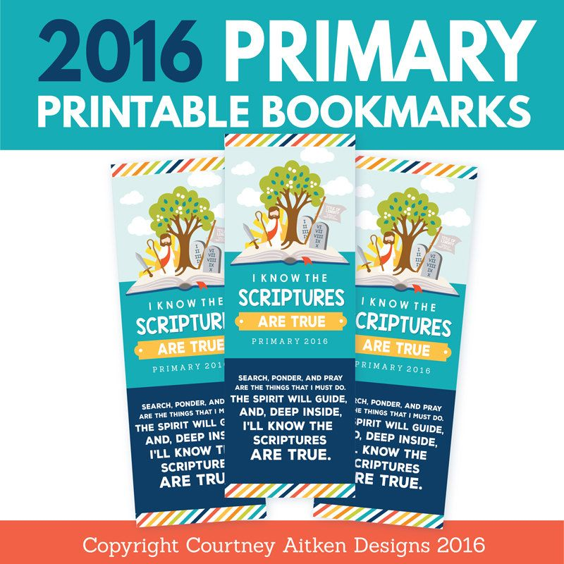 2016 LDS Primary Bookmarks | Mision
