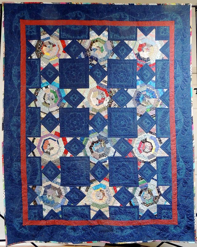 Then & Now: string star quilt by Sophie Junction. The finished ... : liberated string quilts - Adamdwight.com