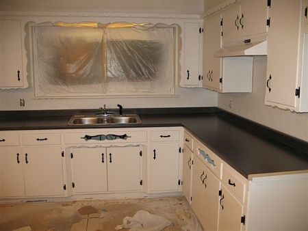 Painting Old Flat Front Kitchen Cabinets | Kitchen Overhaul Ideas