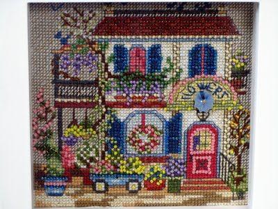 Cross Stitch Kit Flower Shoppe
