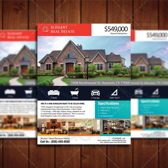 real estate listing flyer template