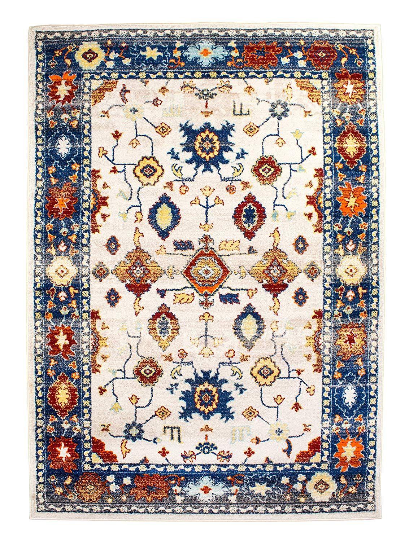 5x7 moderntraditional vintage rug distressed