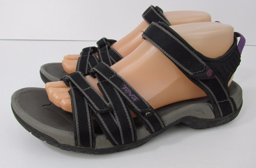 9e1637e36a39 TEVA Tirra Women s size 8 Black and Purple Ankle Strap Sport Sandals  Teva…