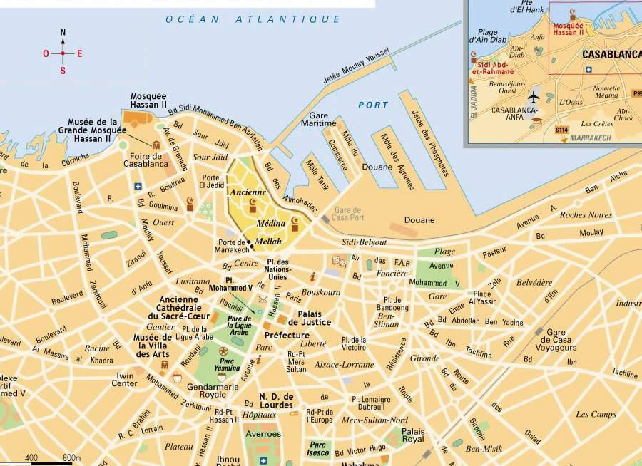Map of Casablanca ! | My trip to Morocco in 2019 | Morocco ... Casablanca Morocco Map on