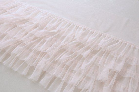 light pink ruffled trim, tulle ruffles trim, tutu mesh trim, doll dress trim, baby tutu dress trim, pleated tulle trim, frill trimming