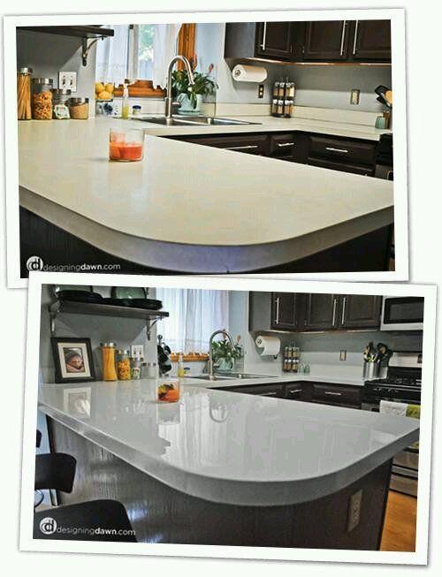 paint laminate counters for a cheap | Hogar | Pinterest | Cosas ...