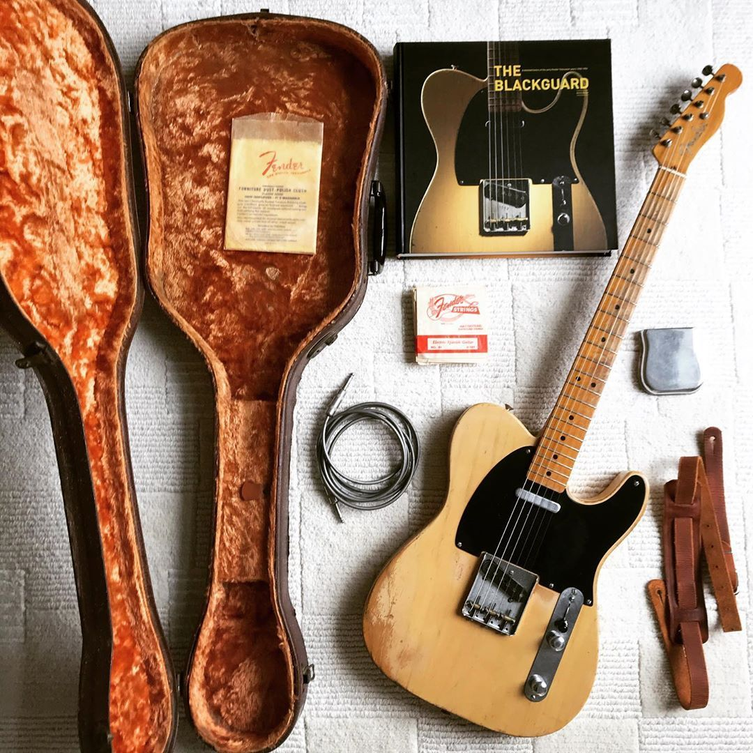 Richard Dizerega On Instagram 1951 Fender Nocaster With Some Goodies Another Photo Concept I M Stealing From My Italian Brother Cescoscornerguitars Fender