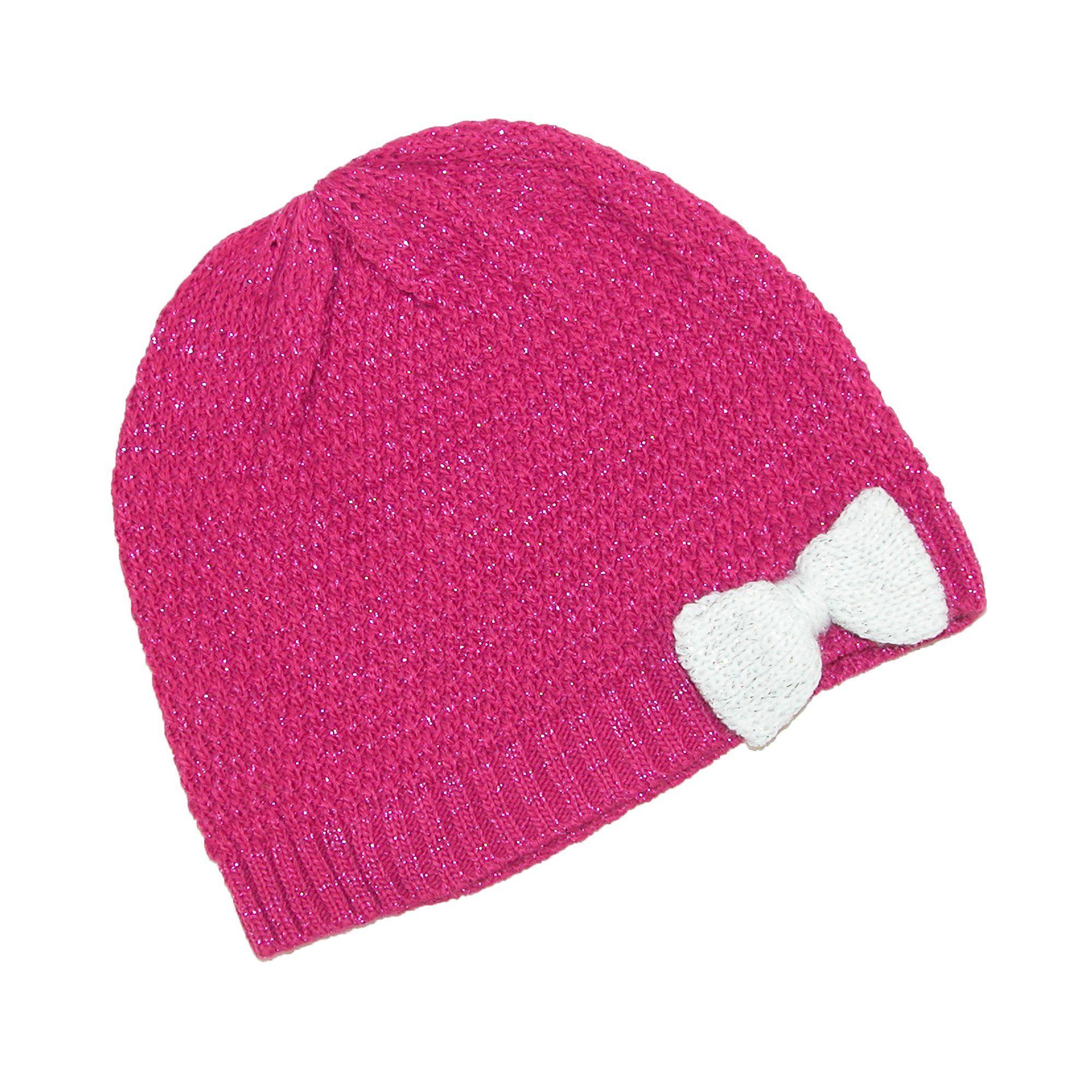 ed791b37da8 Grand Sierra Girls  7-16 Knit Beanie Hat with Bow